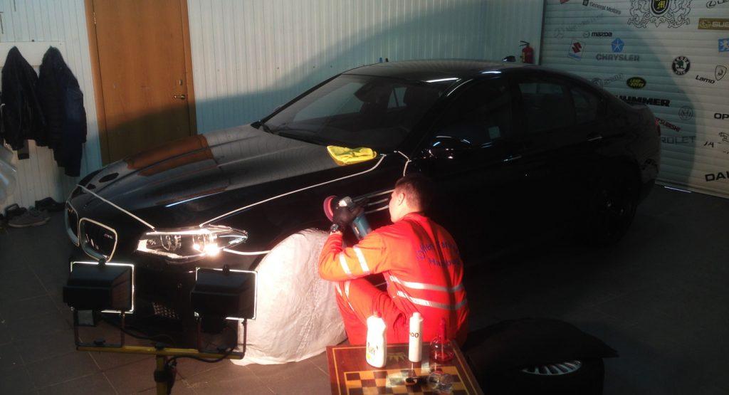 Подготовка для бронирования (полировка) BMW M5 на СБС